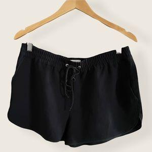 Aritzia Wilfred Black Drawstring Shorts